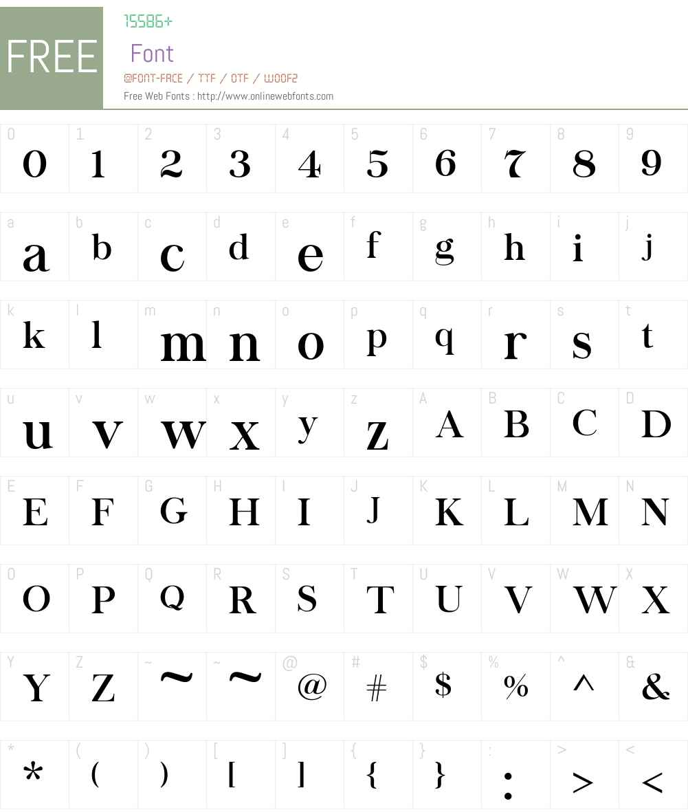 Chapaza Font Screenshots