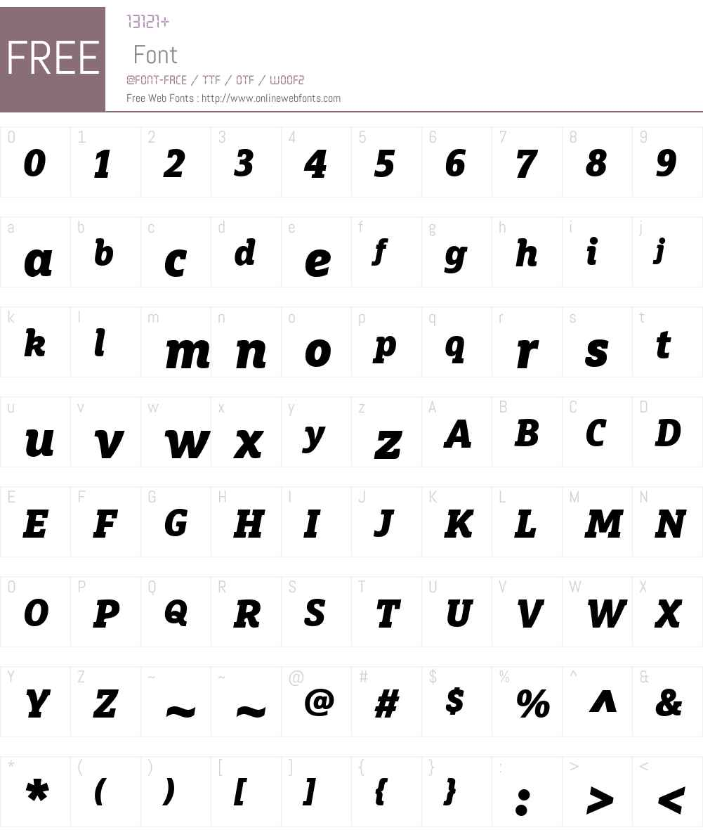 FF Marselis Slab Font Screenshots