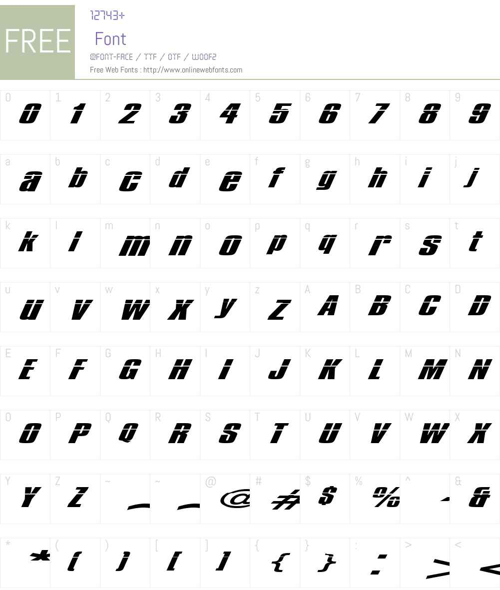Impossible - 1000 Font Screenshots