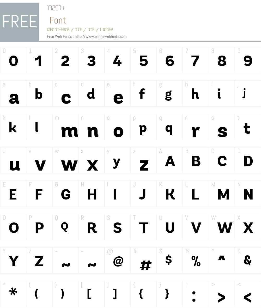 AndesW04-XBold Font Screenshots
