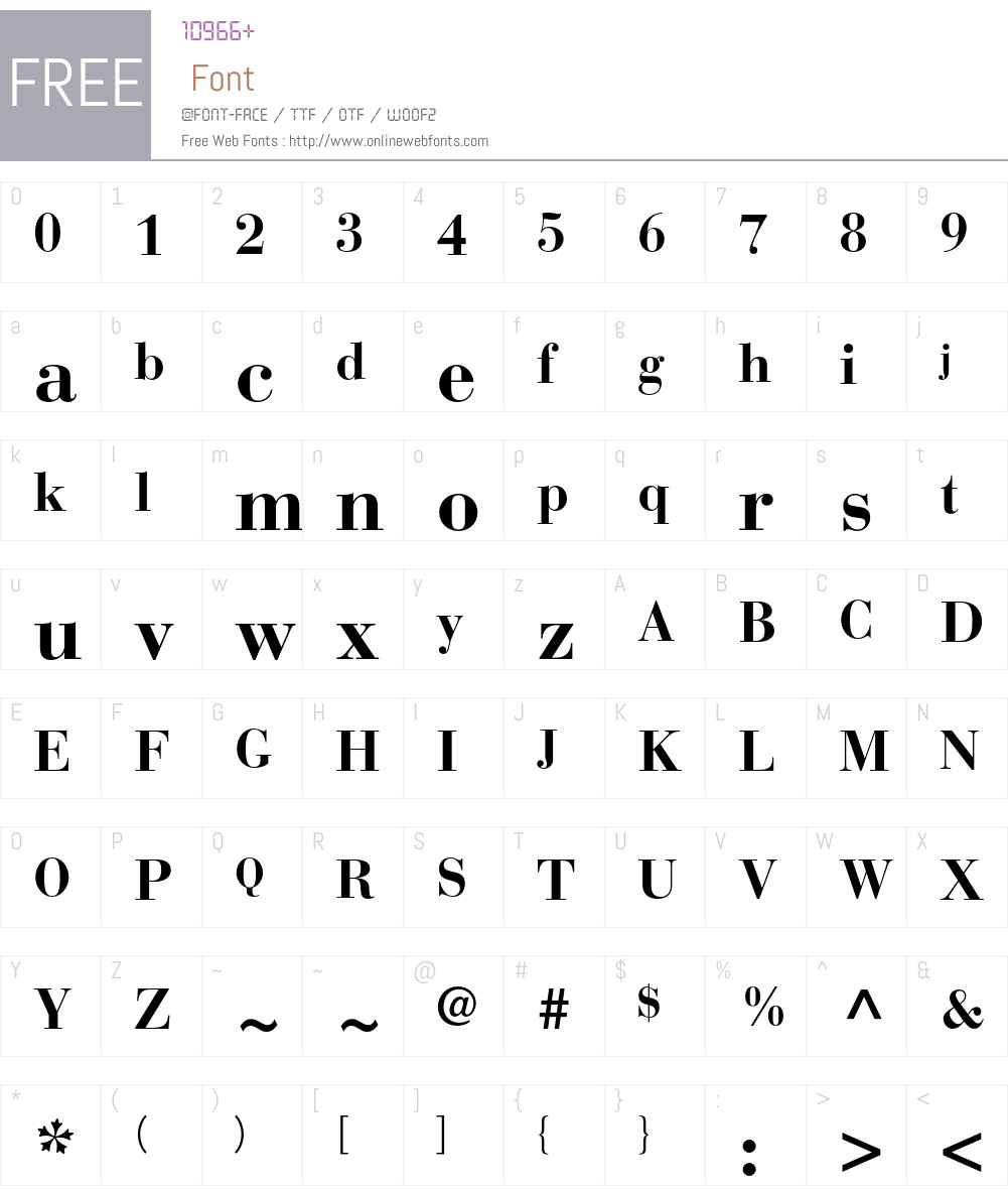 Bauer Bodoni Std 1 Font Screenshots