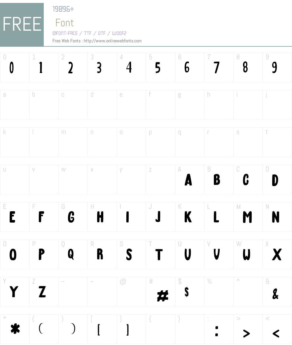 March Font Screenshots
