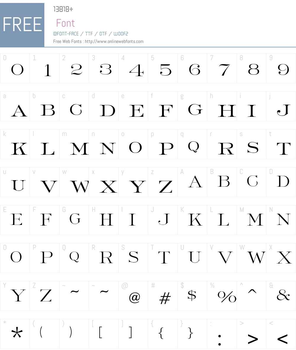 RobertoLight Font Screenshots