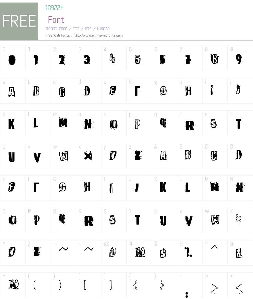 The quick monkey Font Screenshots