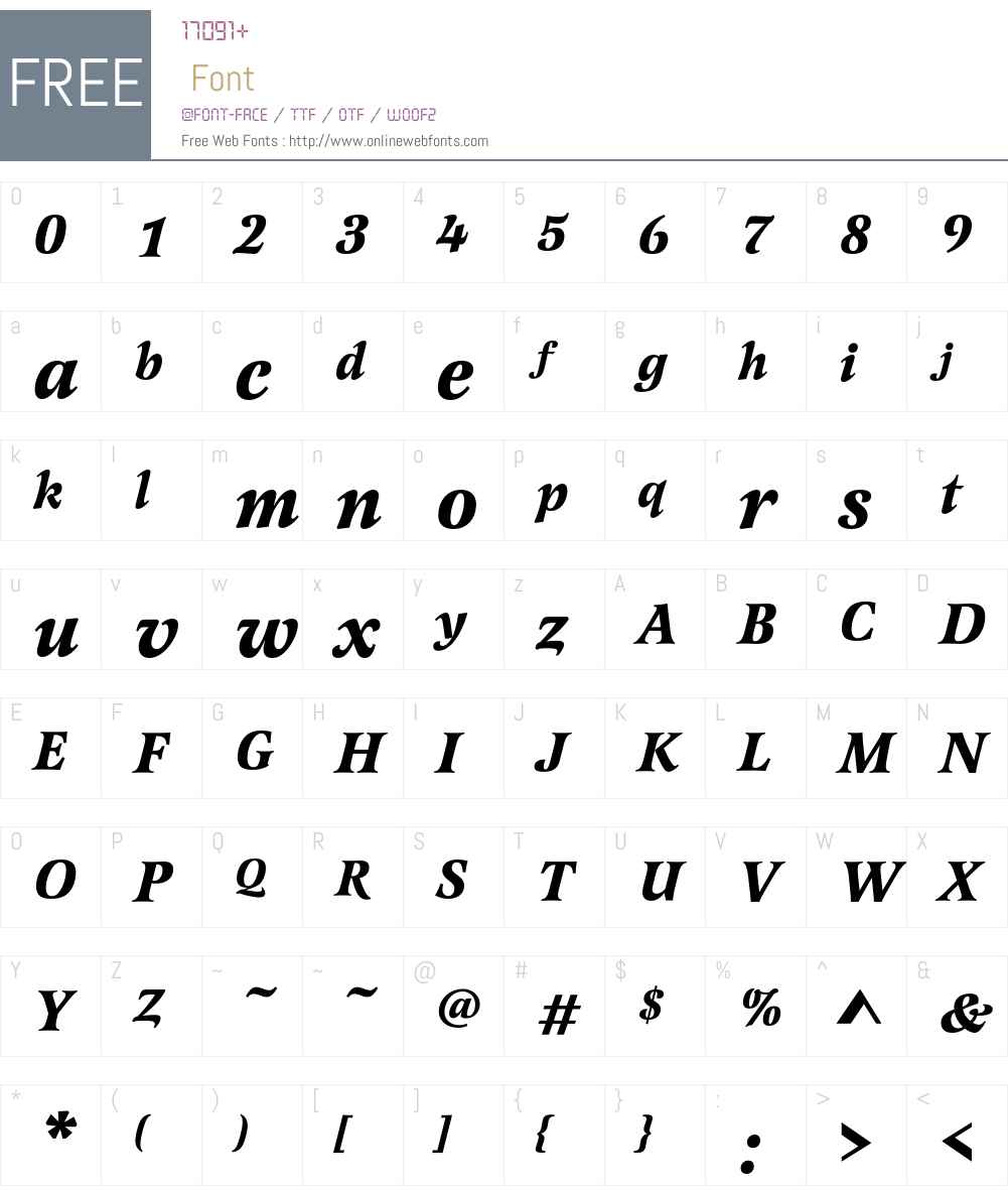 LatienneEF-BoldItalic Font Screenshots