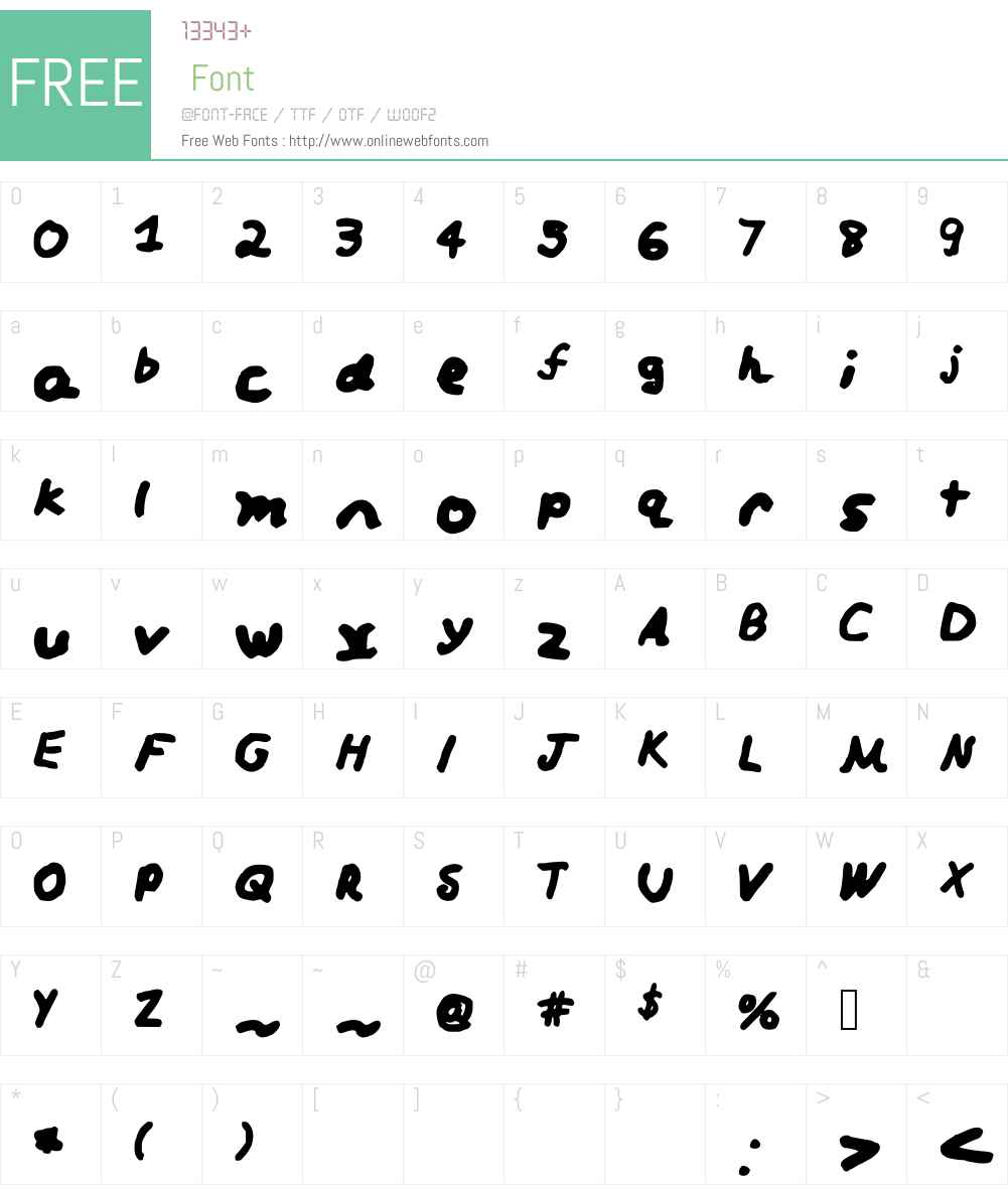 Loofy Font Screenshots