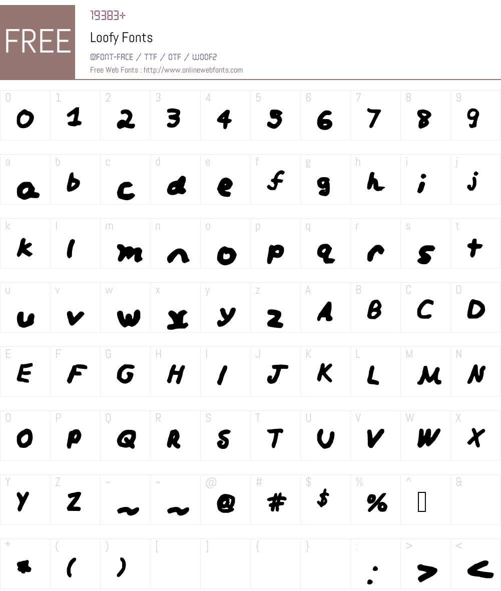 Loofy Font Screenshots