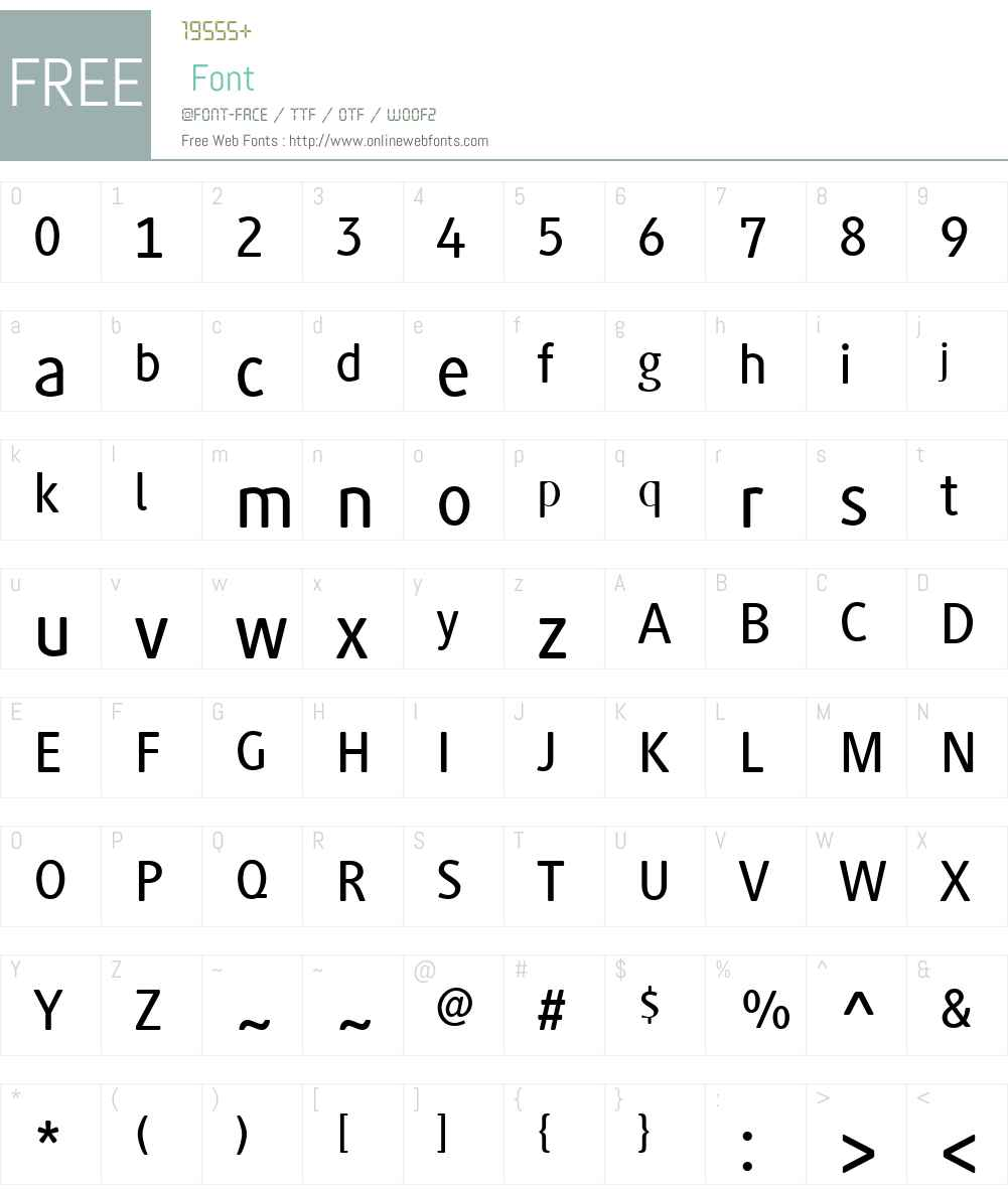GenerisSimpleW01-Medium Font Screenshots