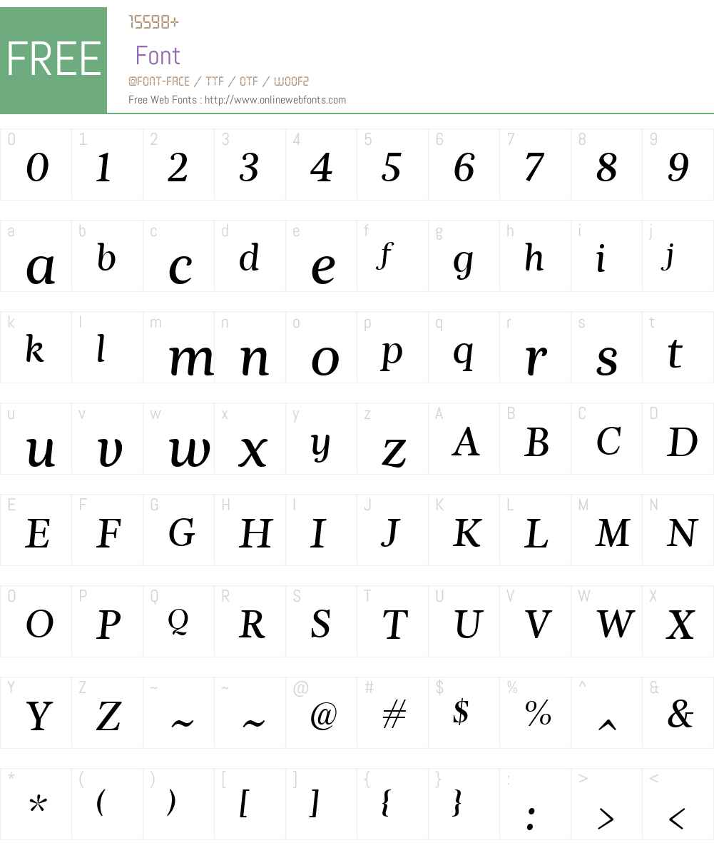 Nyte Font Screenshots