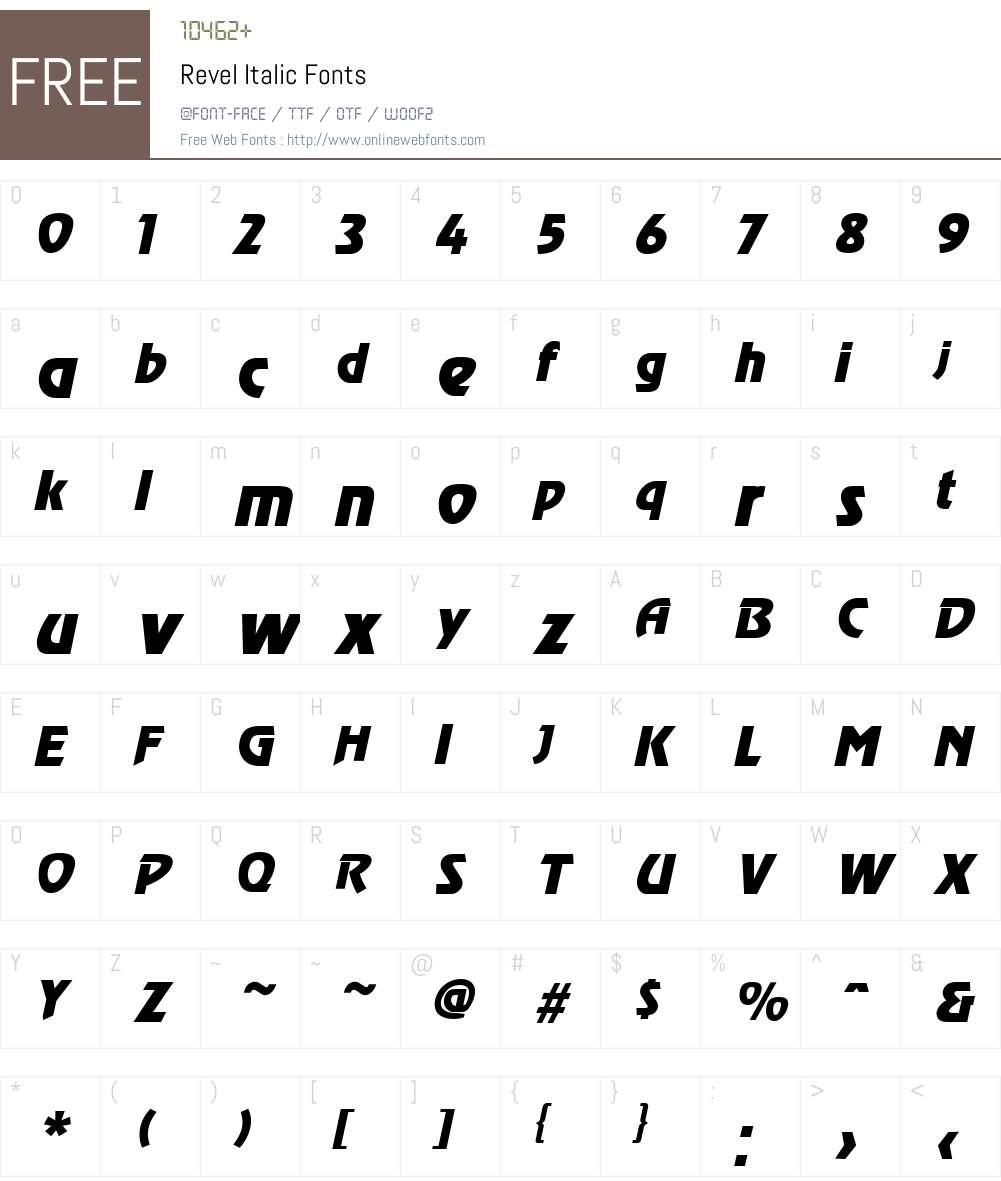 Revel Font Screenshots