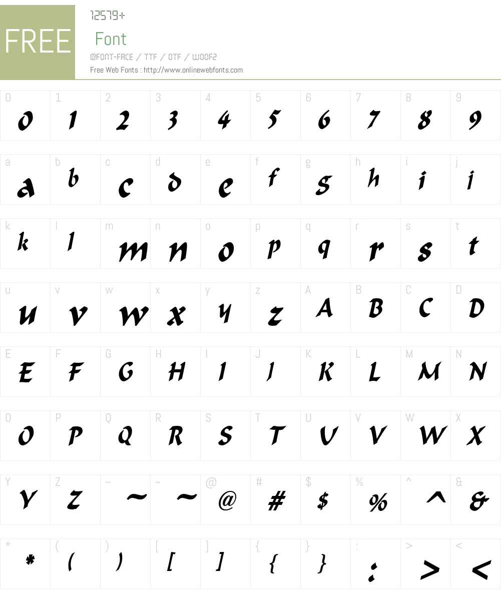 Marlin Condensed Font Screenshots