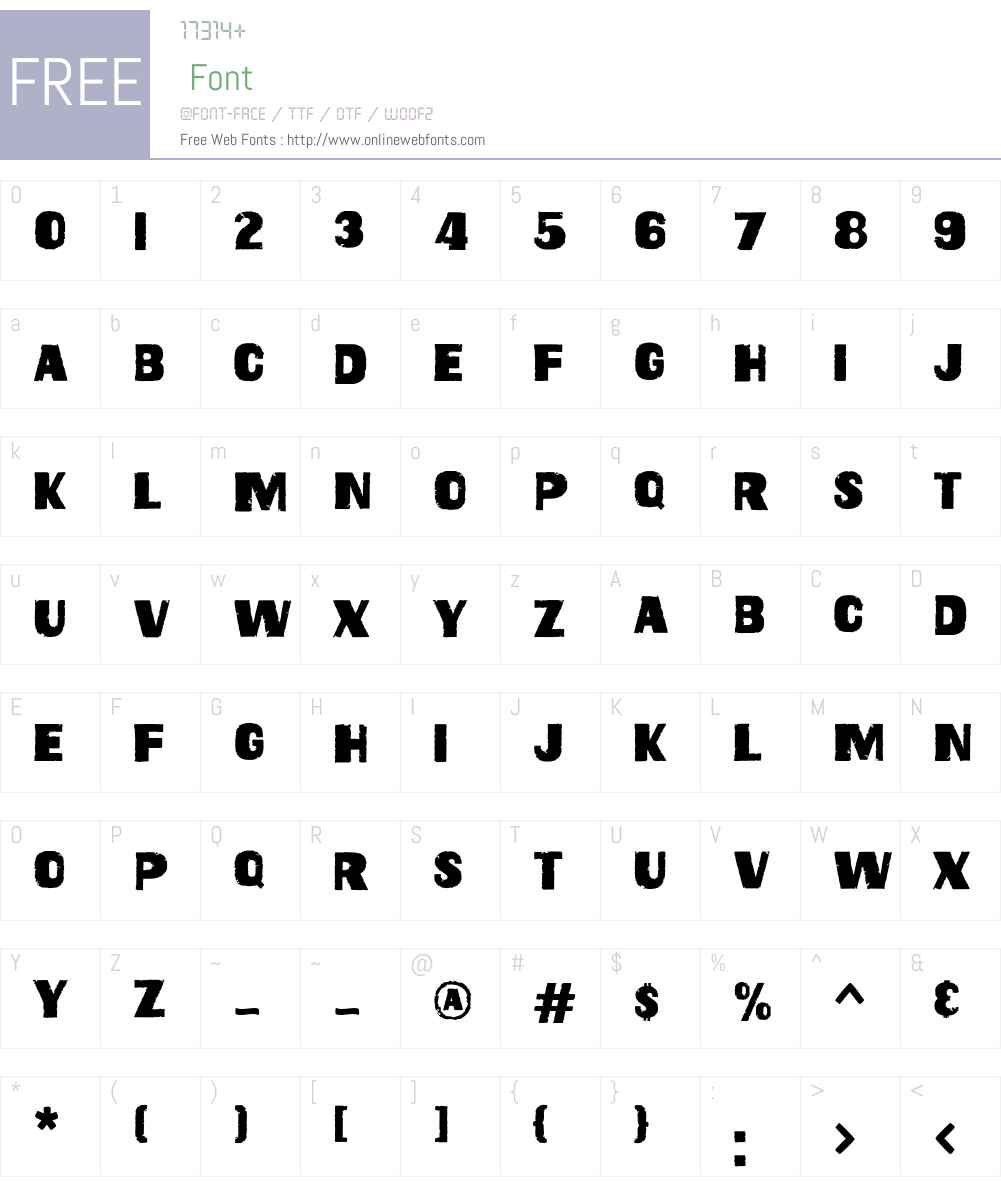 GeoduckW00-Regular Font Screenshots