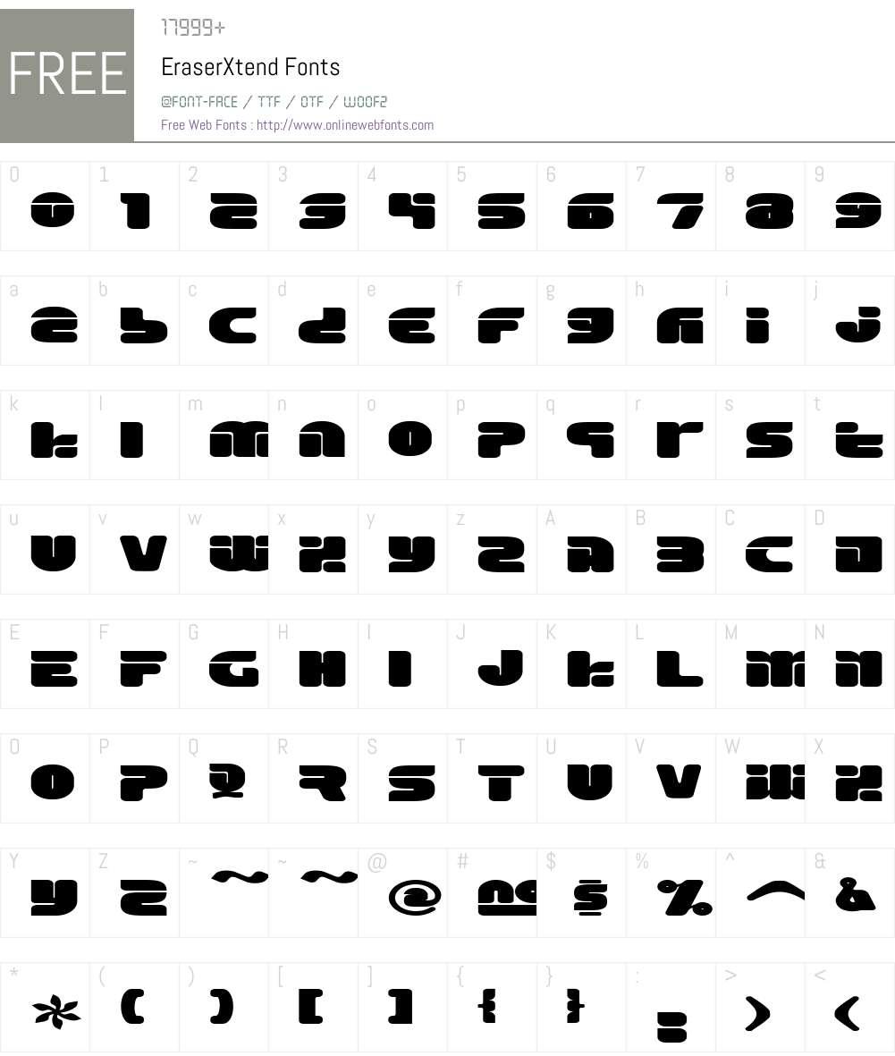Eraser Font Screenshots