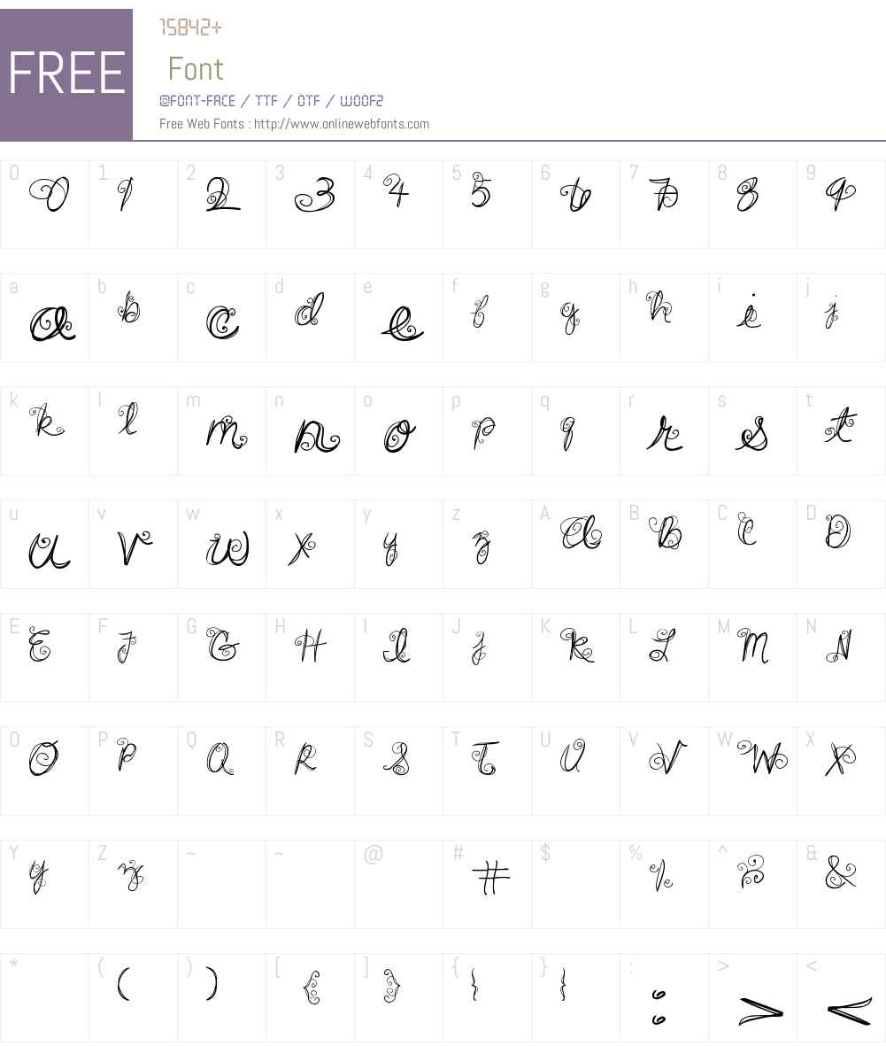DJB SWIRL ME AROUND Font Screenshots