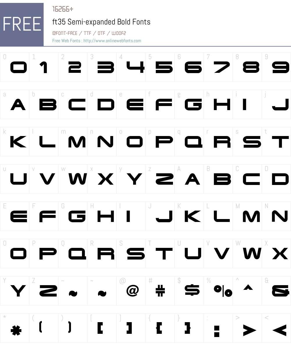 ft35 Font Screenshots