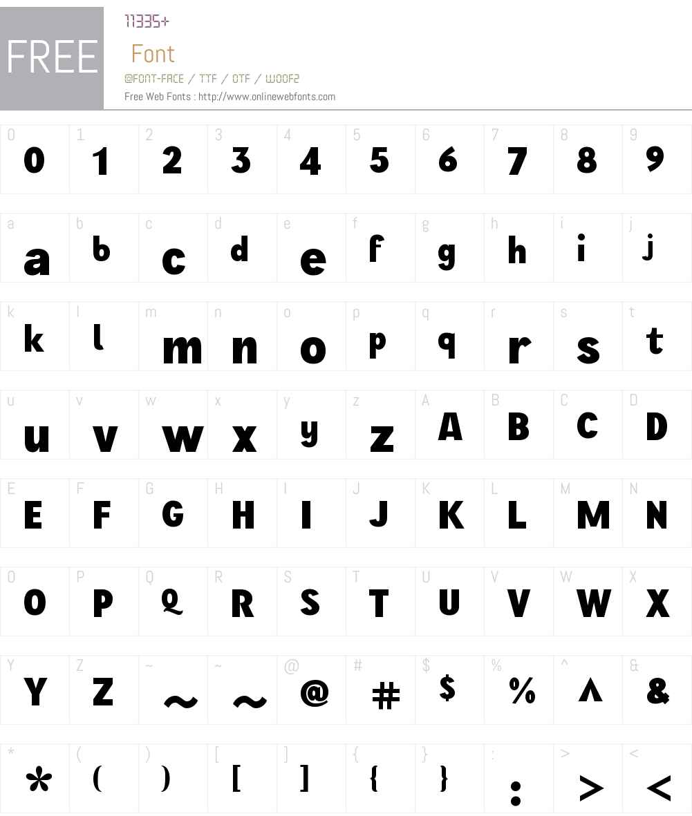 WienW00-Bold Font Screenshots