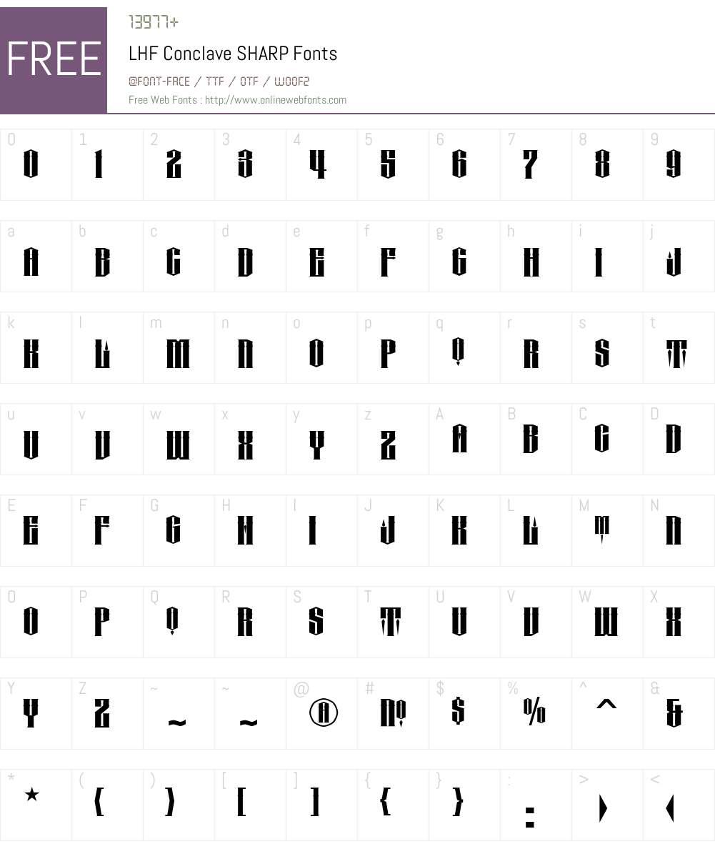 LHF Conclave Font Screenshots