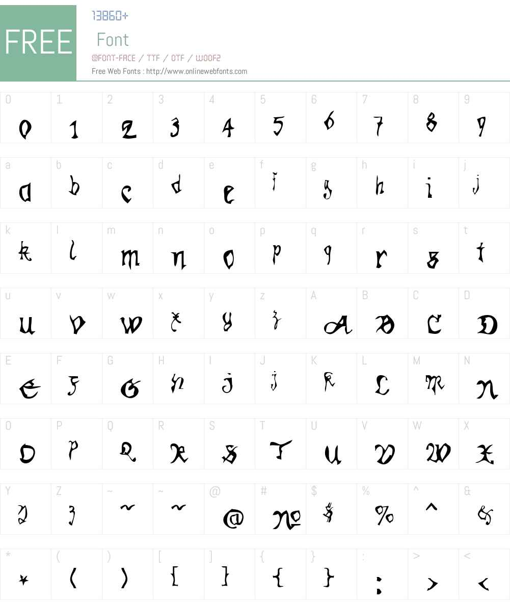 Kracklite Font Screenshots