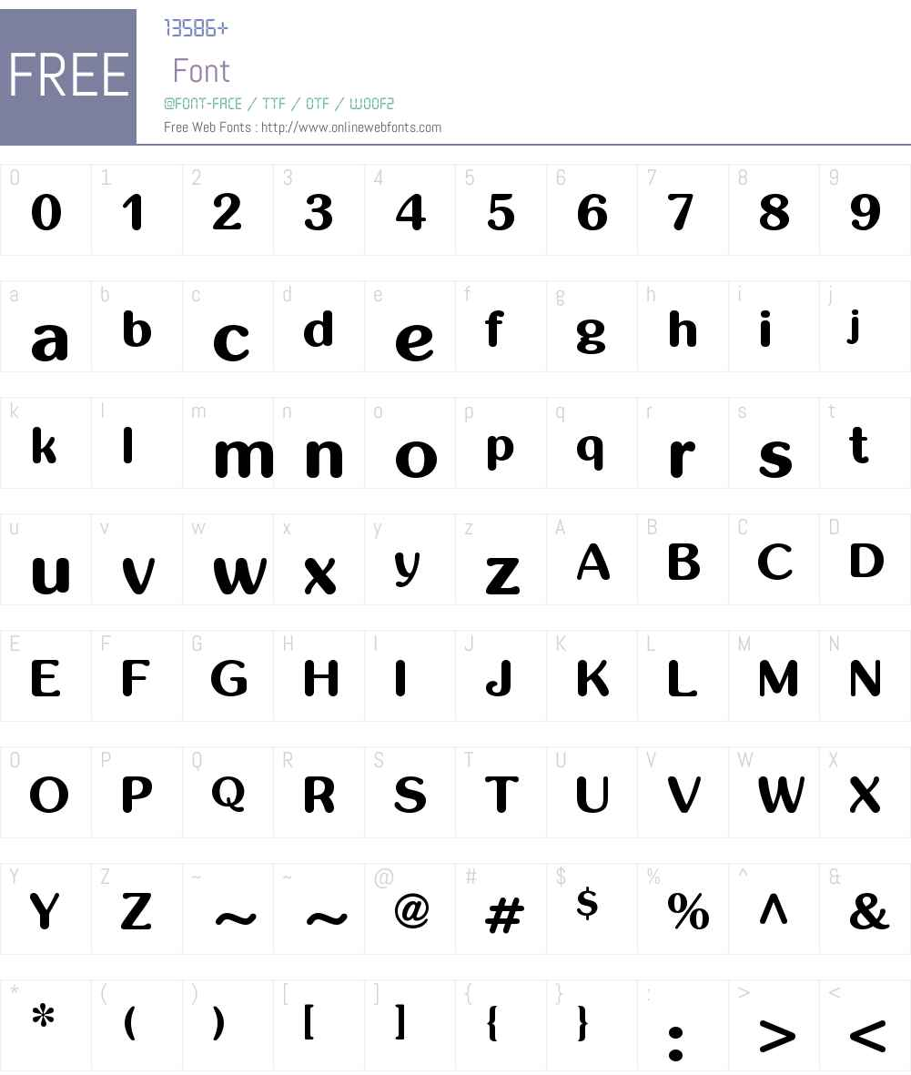 inglobal Font Screenshots
