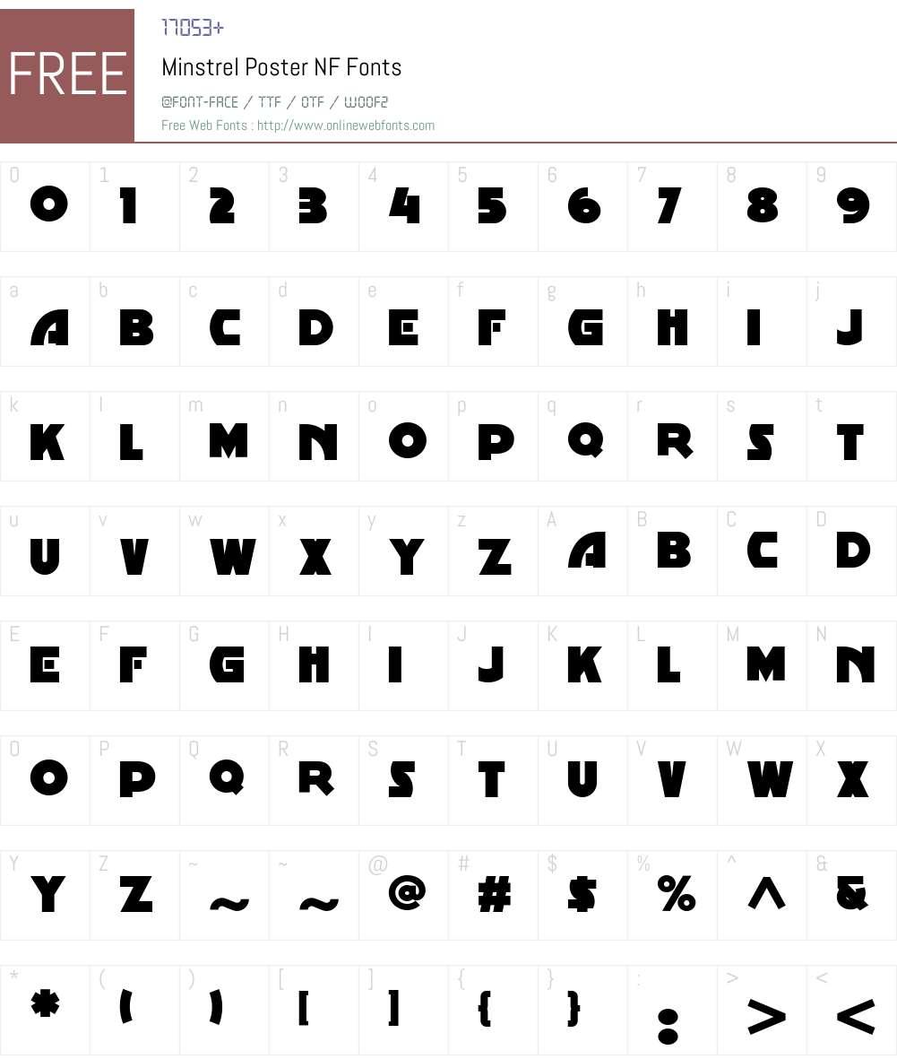 Minstrel Poster NF Font Screenshots