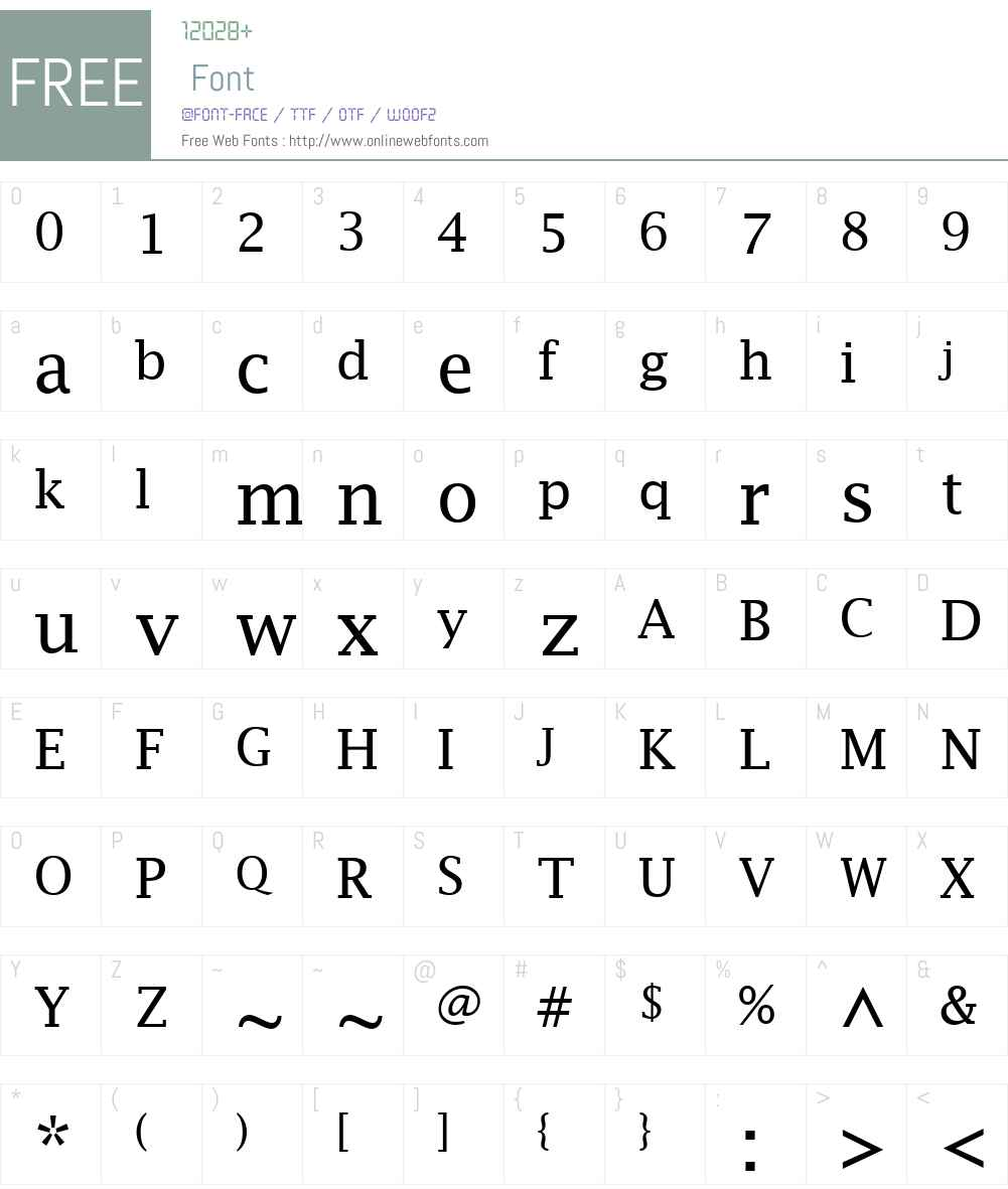 Lucida Fax Font Screenshots