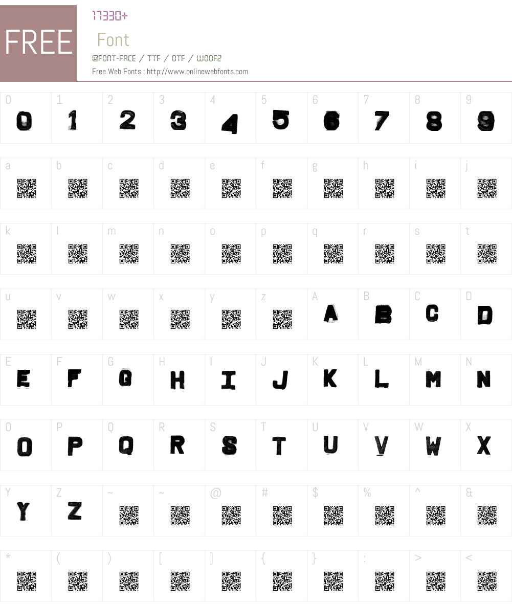 FridgeLetters Font Screenshots