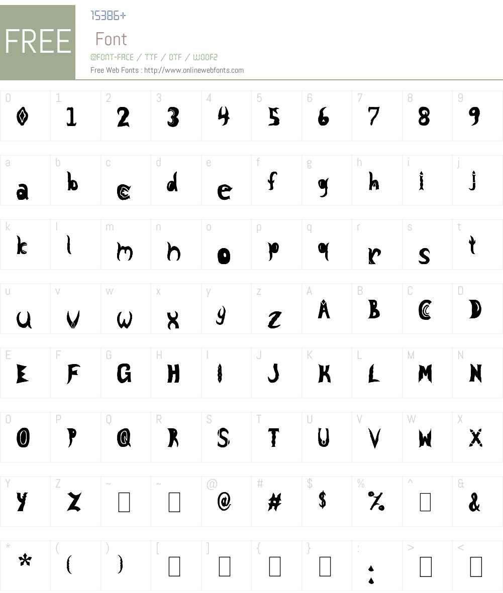 Knight Nifty 9 Font Screenshots