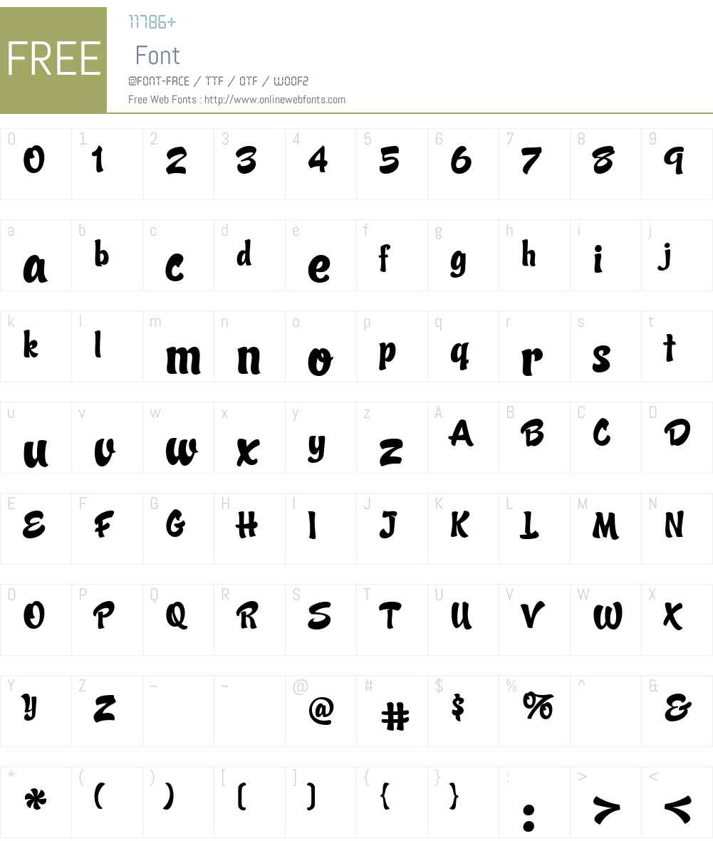 Candy Script Font Screenshots