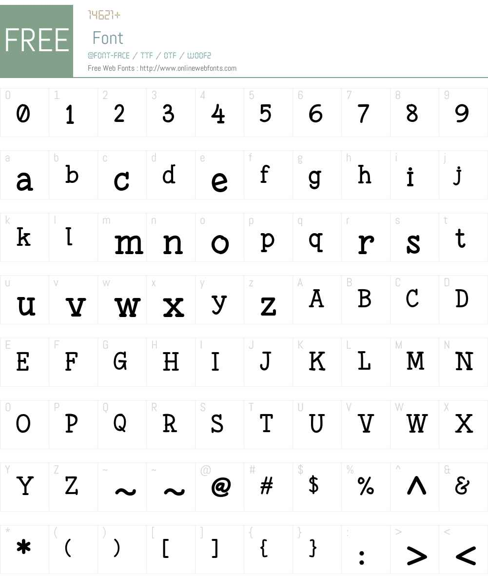 Fonesia Font Screenshots
