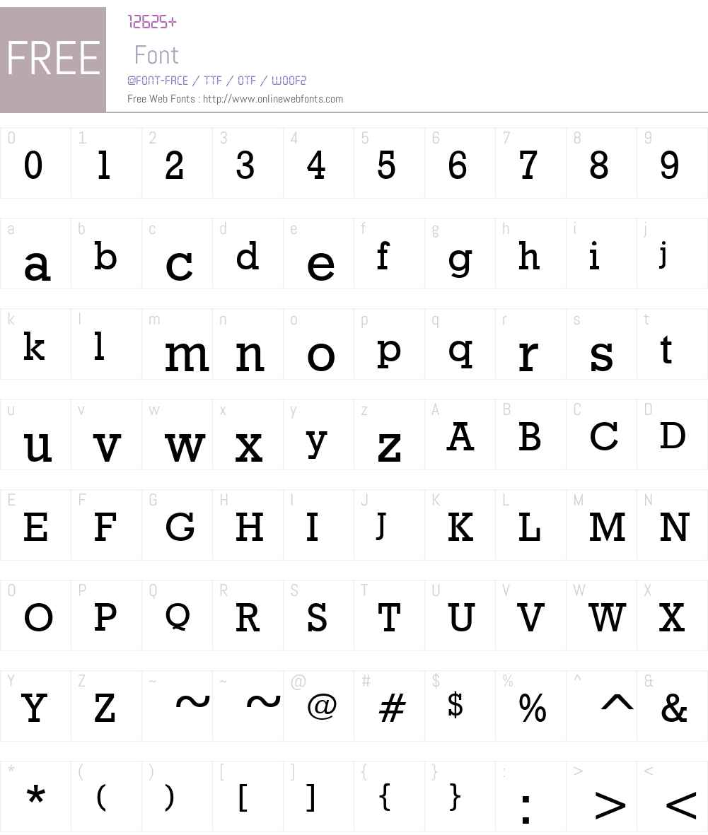 Granite Font Screenshots