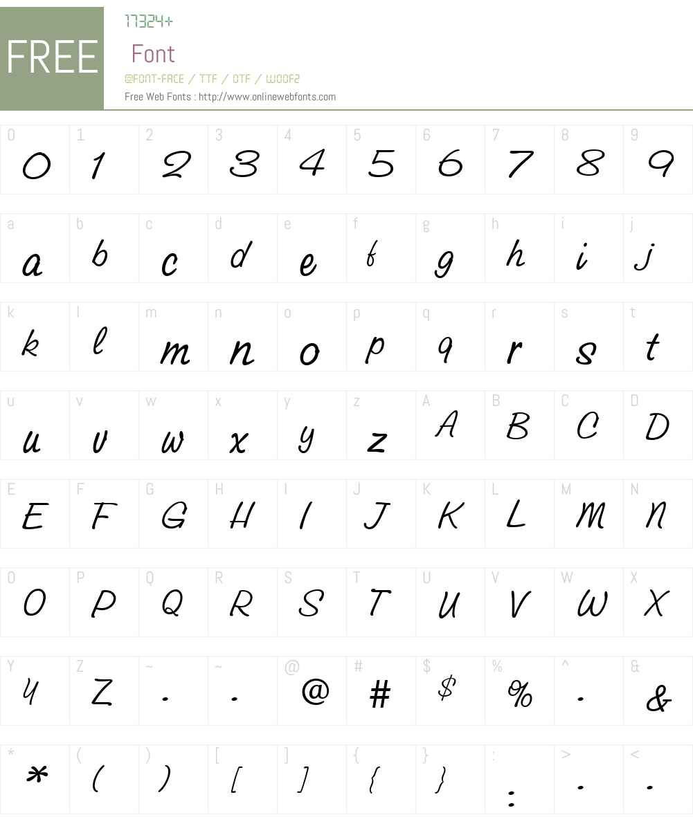 GroveScriptLight Font Screenshots