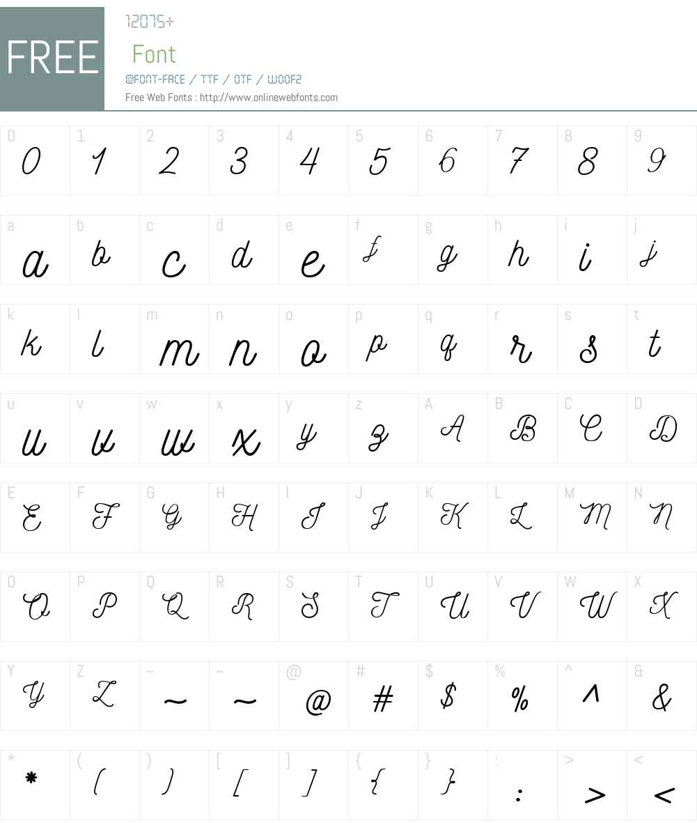 Nickainley Font Screenshots