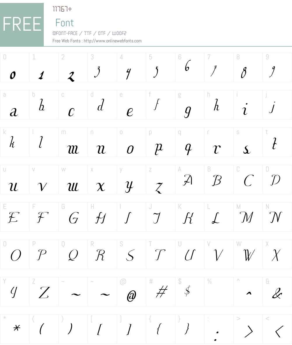Hitalica Font Screenshots
