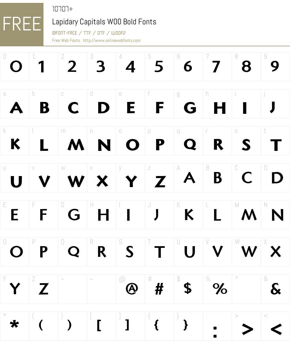 LapidaryCapitalsW00-Bold Font Screenshots