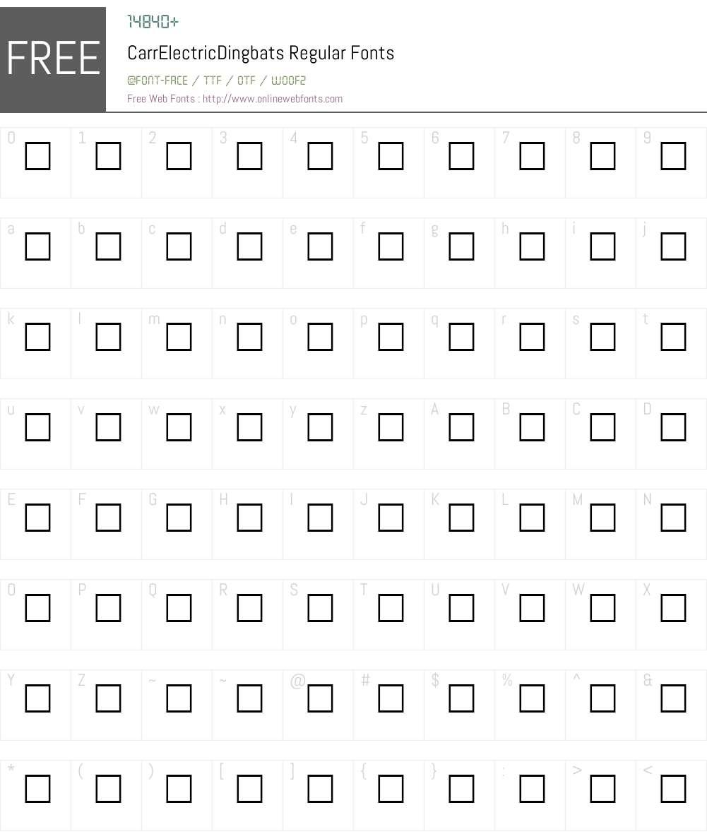 CarrElectricDingbats Font Screenshots
