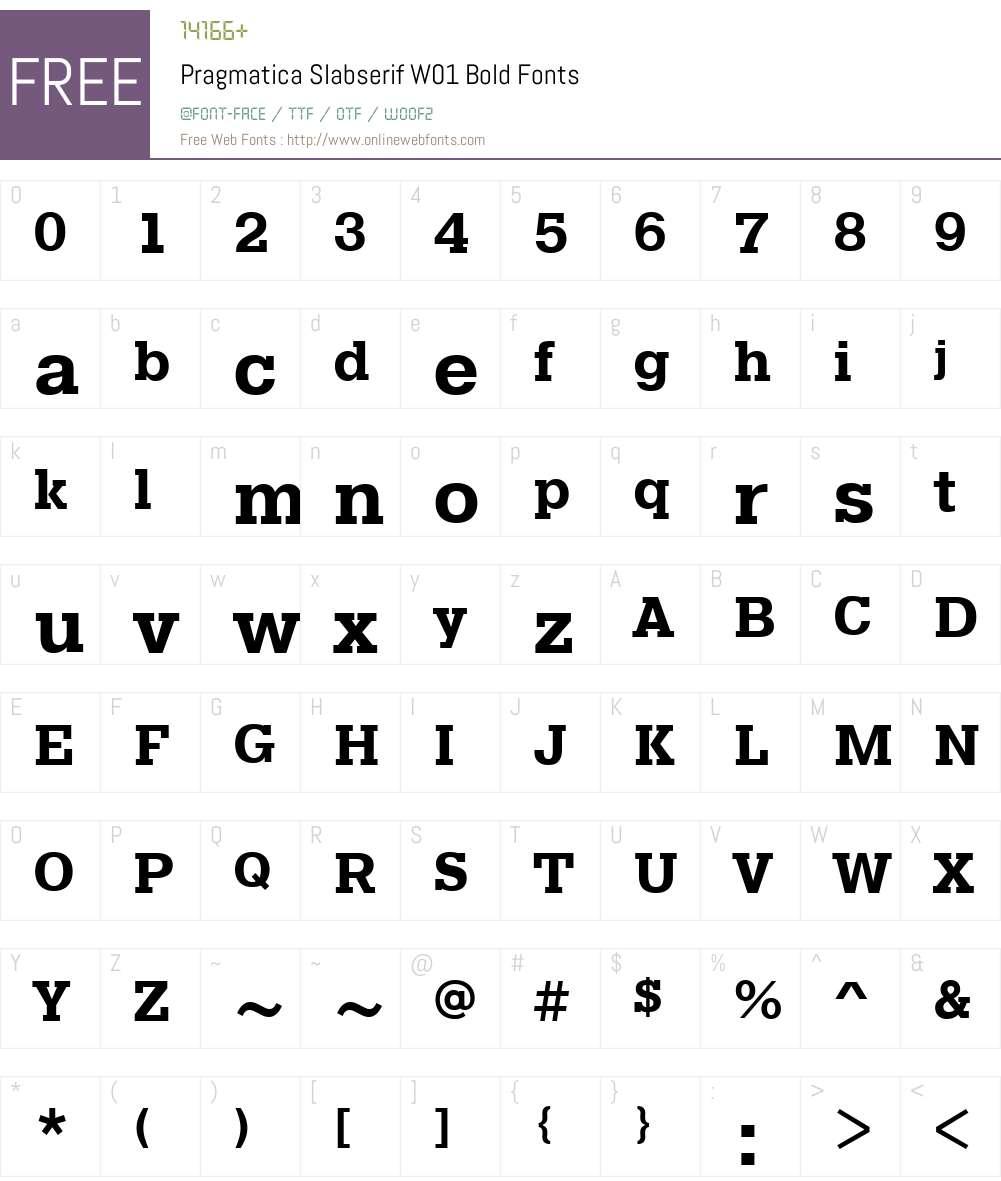 PragmaticaSlabserifW01-Bold Font Screenshots