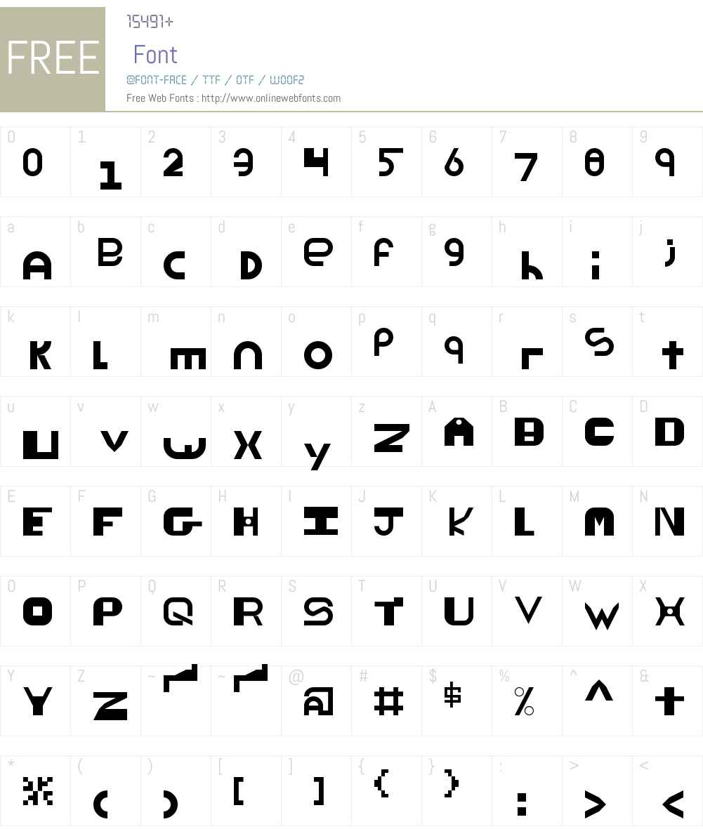 ThickThin Font Screenshots