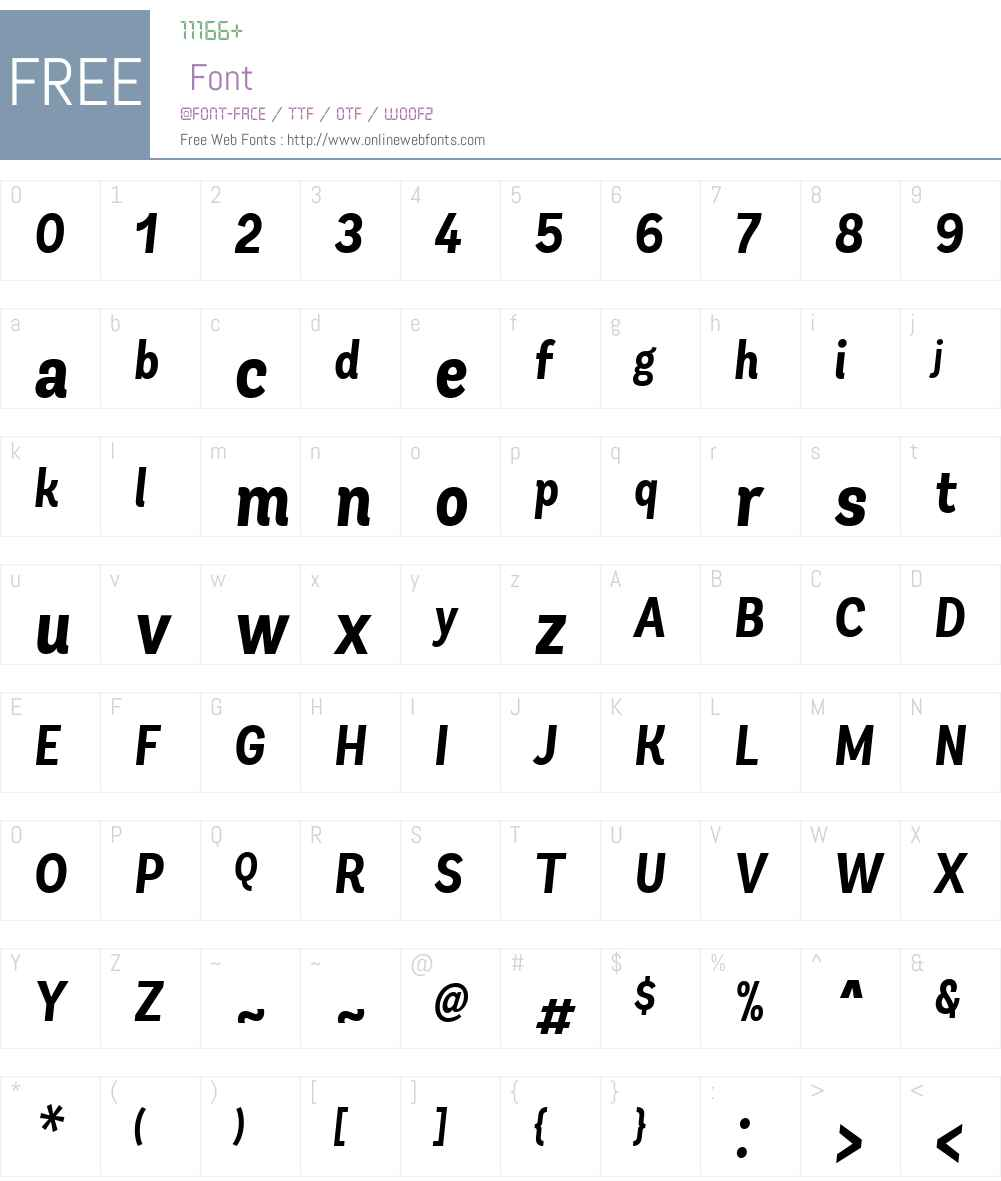 AndesCndW04-BoldIt Font Screenshots