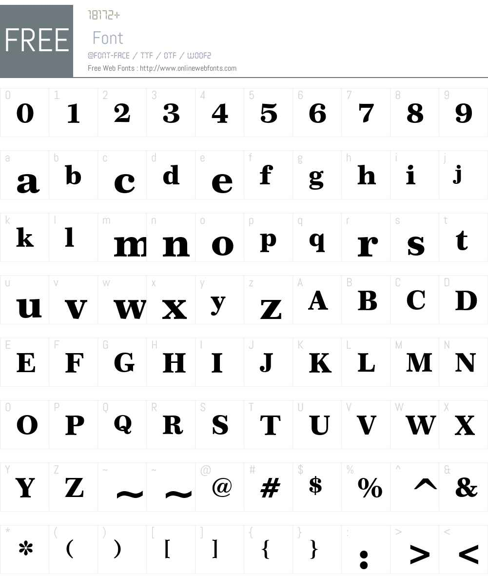 Century751 Blk BT Font Screenshots