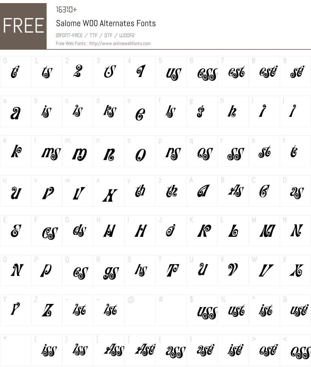 SalomeW00-Alternates Font Screenshots