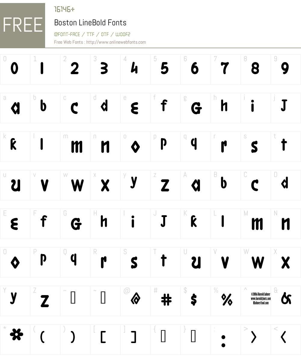 Boston LineBold Font Screenshots