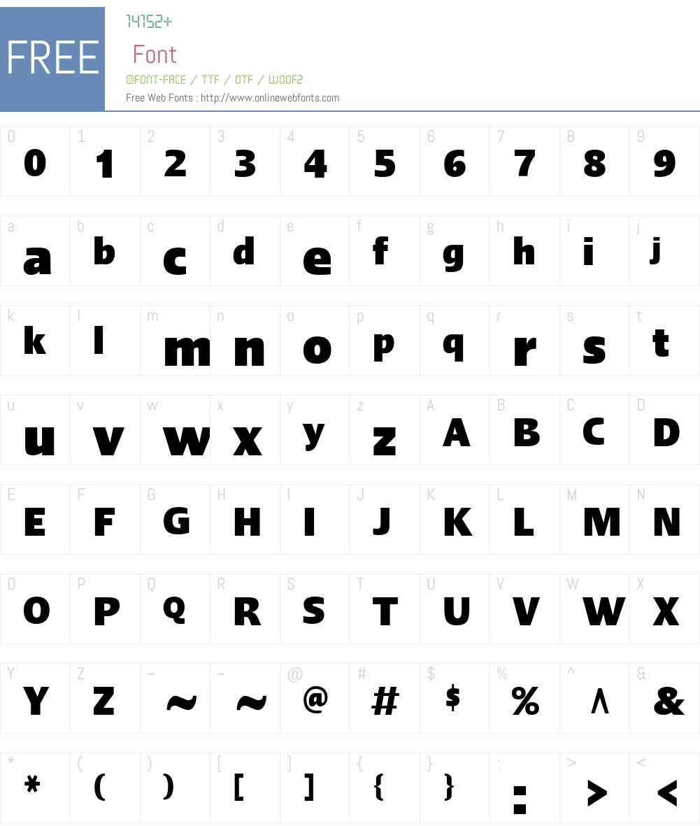LinotypeErgoW01-BlackCn Font Screenshots