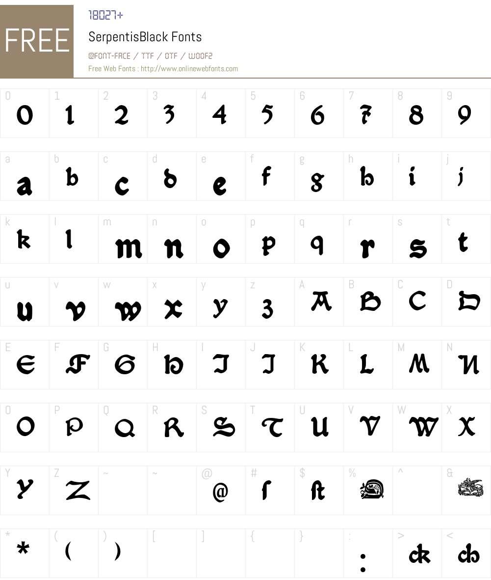 SerpentisBlack Font Screenshots