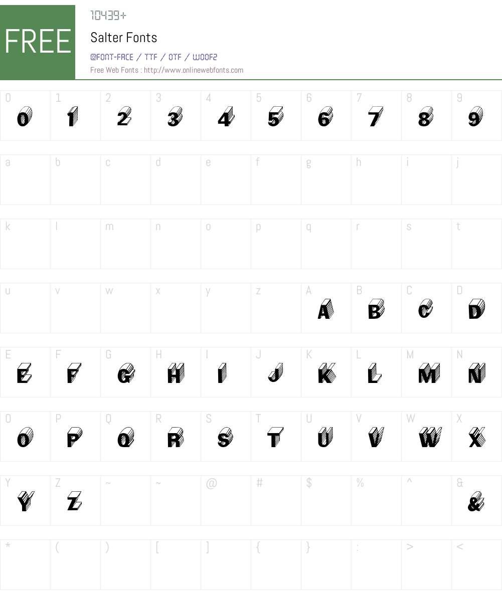 Salter Font Screenshots