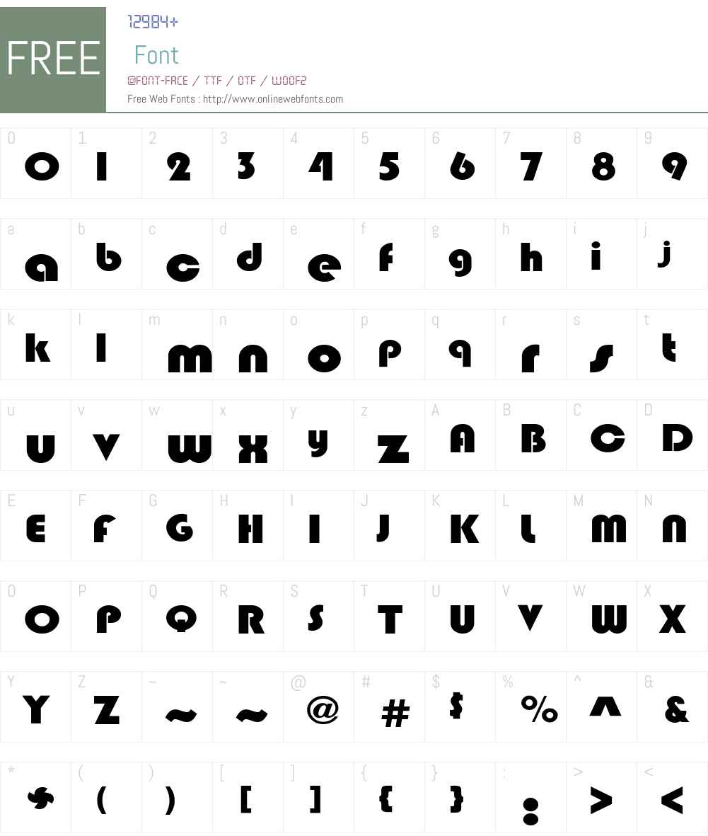 BlippoExt-Heavy Font Screenshots