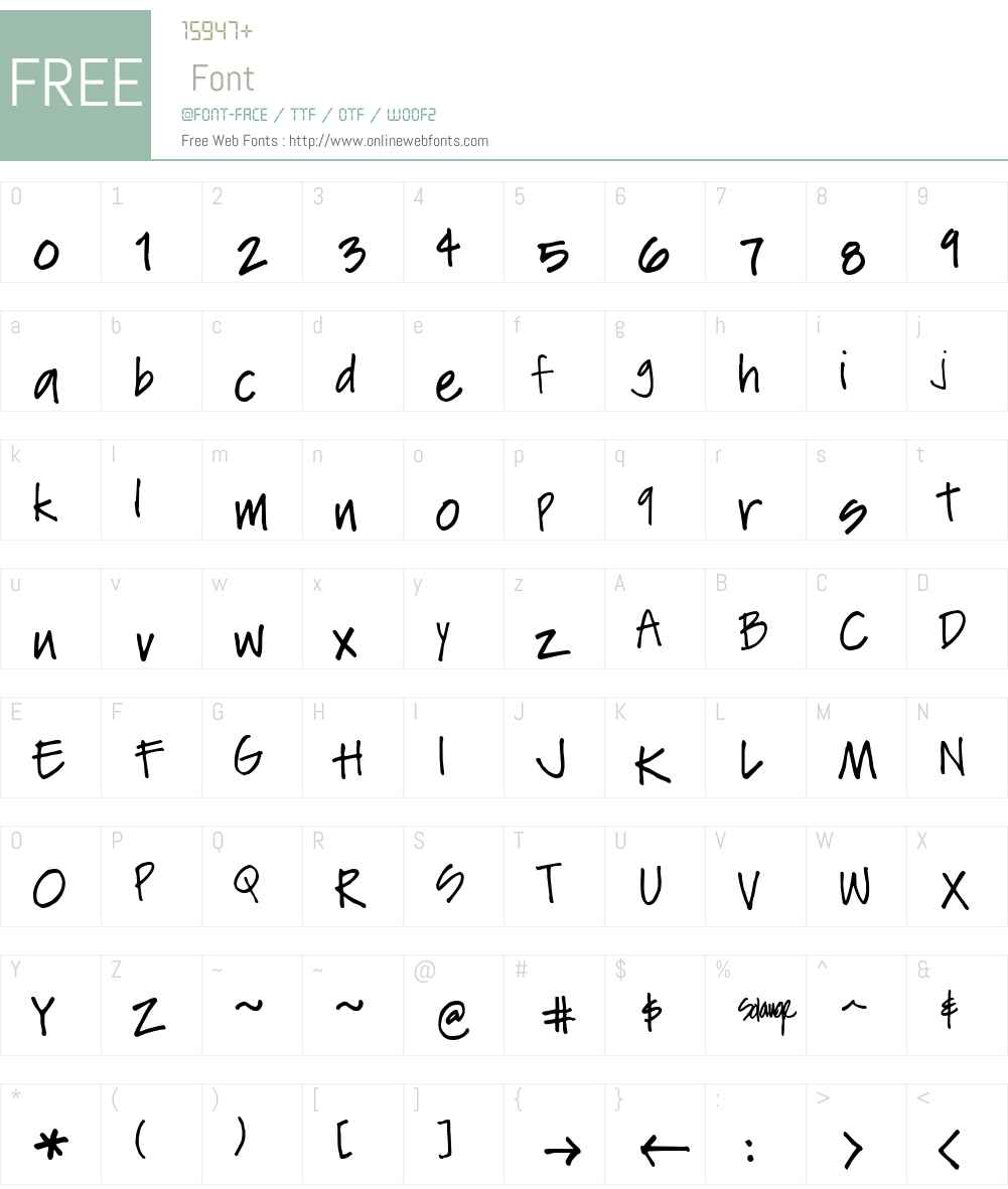 Soli Font Screenshots