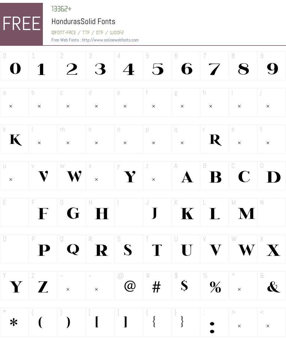 HondurasSolid Font Screenshots