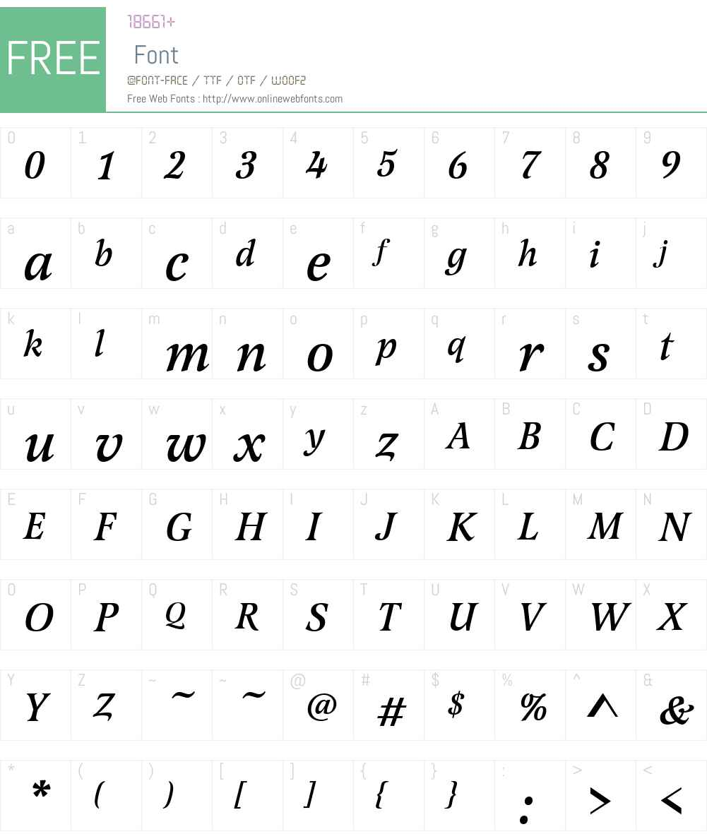 LatienneW01-MediumItalic Font Screenshots