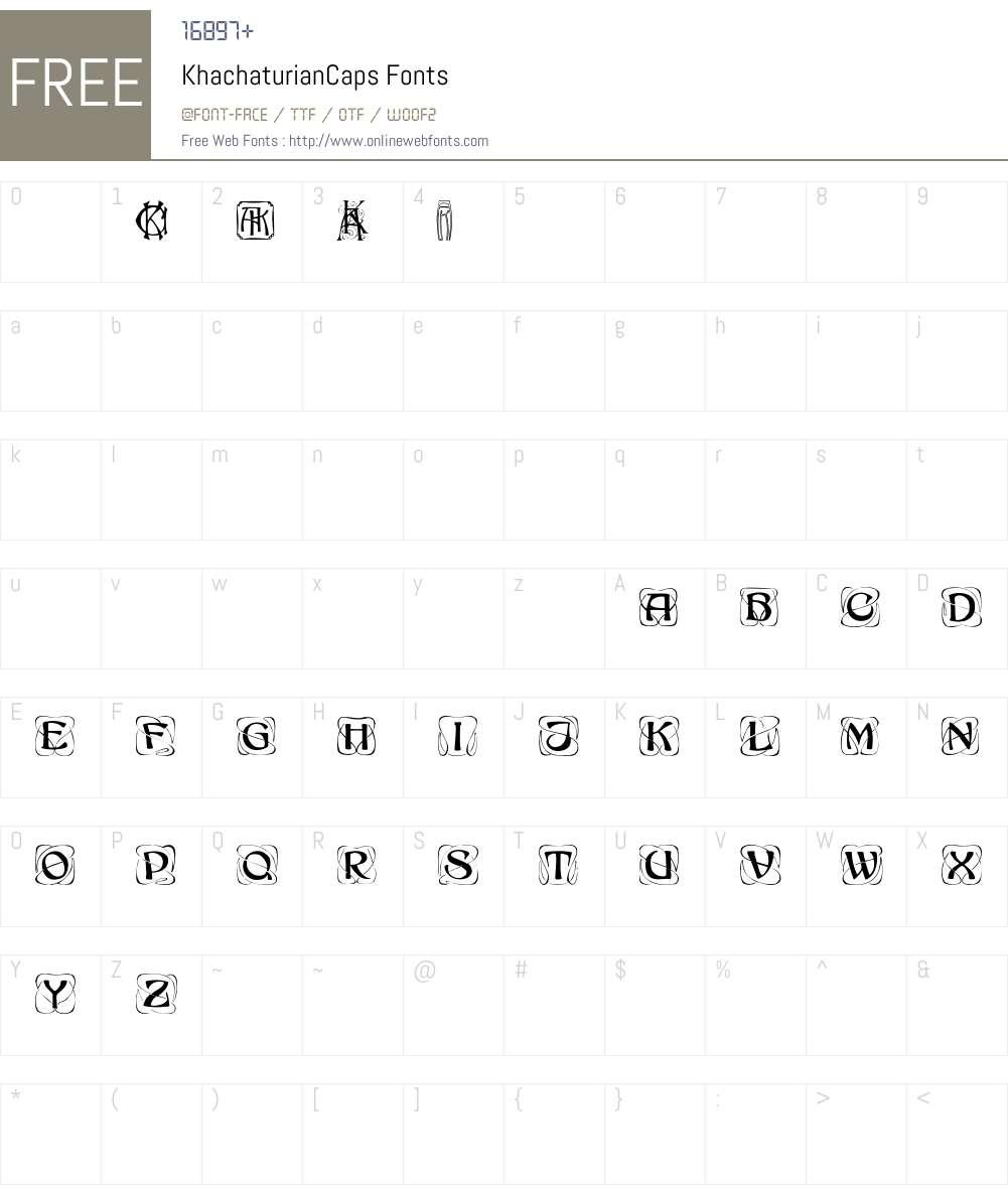 KhachaturianCaps Font Screenshots