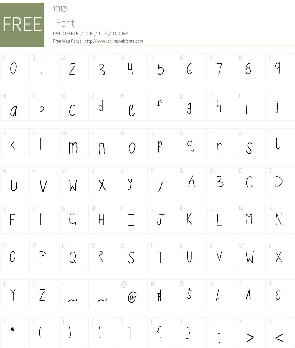 KBWiggleWorm Font Screenshots